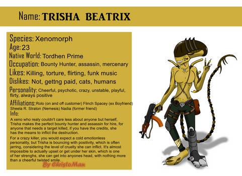 Trisha Beatrix The Xenomorph Ref Sheet