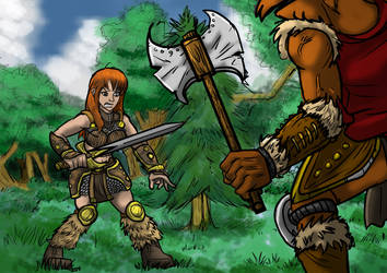 Art Trade: Barbarian Warrior VS Beastman