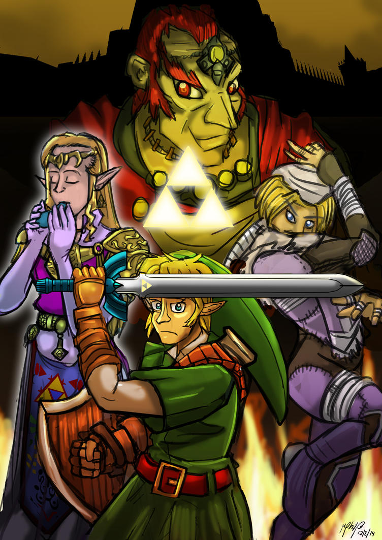 Commission :Zelda OOT Poster by Micgrol