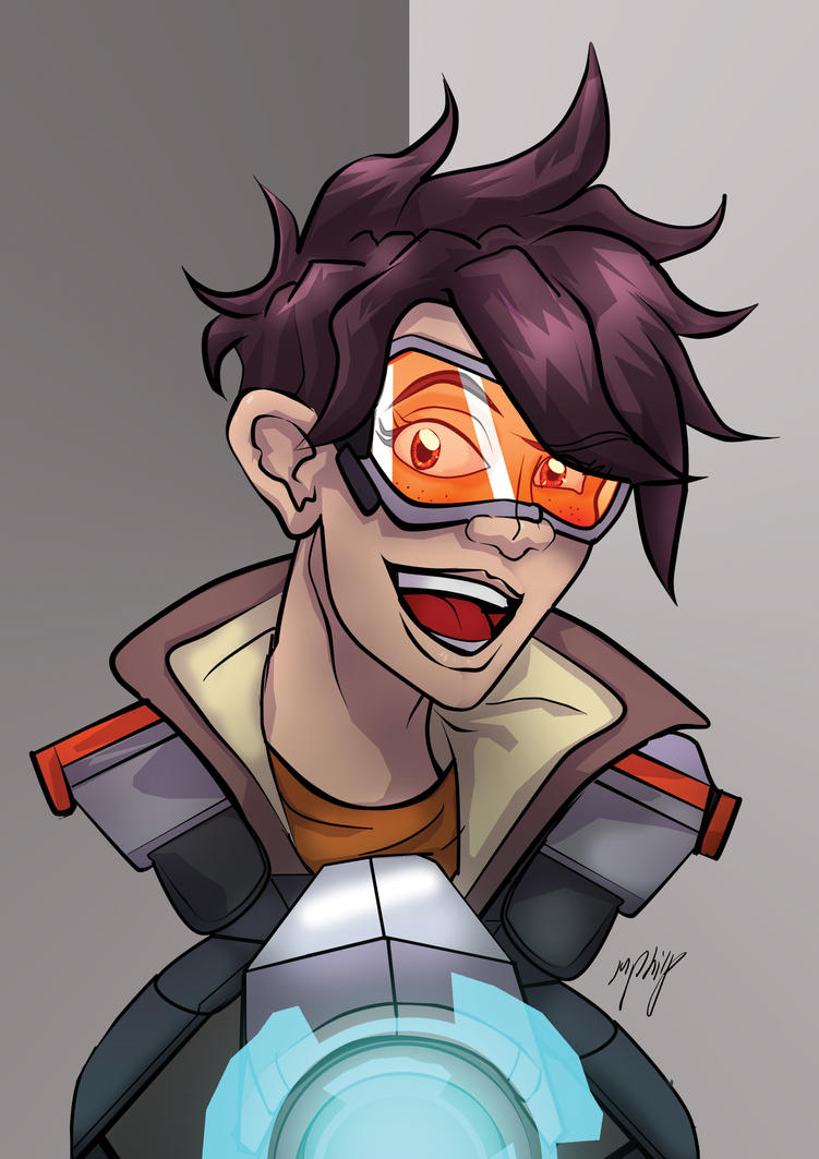 Tracer: Overwatch Fanart by MikeOrion