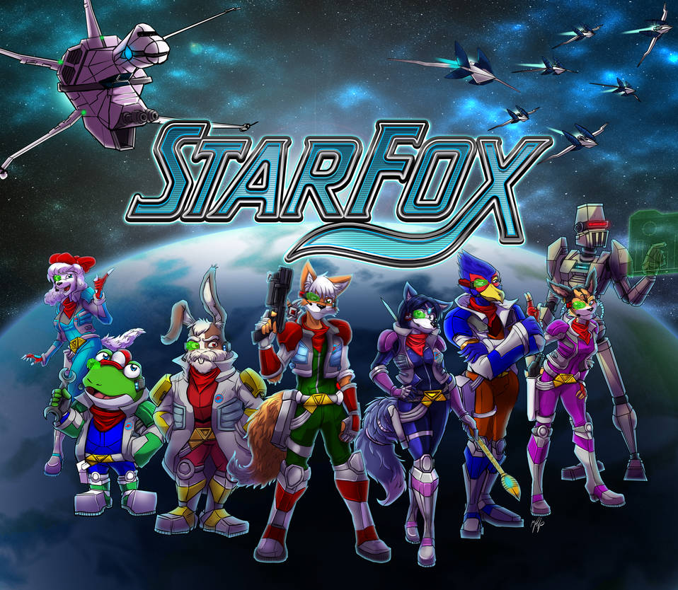 Starfox Commission for PowerForcerRed by MikeOrion