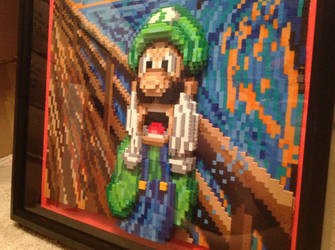 Luigi Scream Side View by Rrilltrae