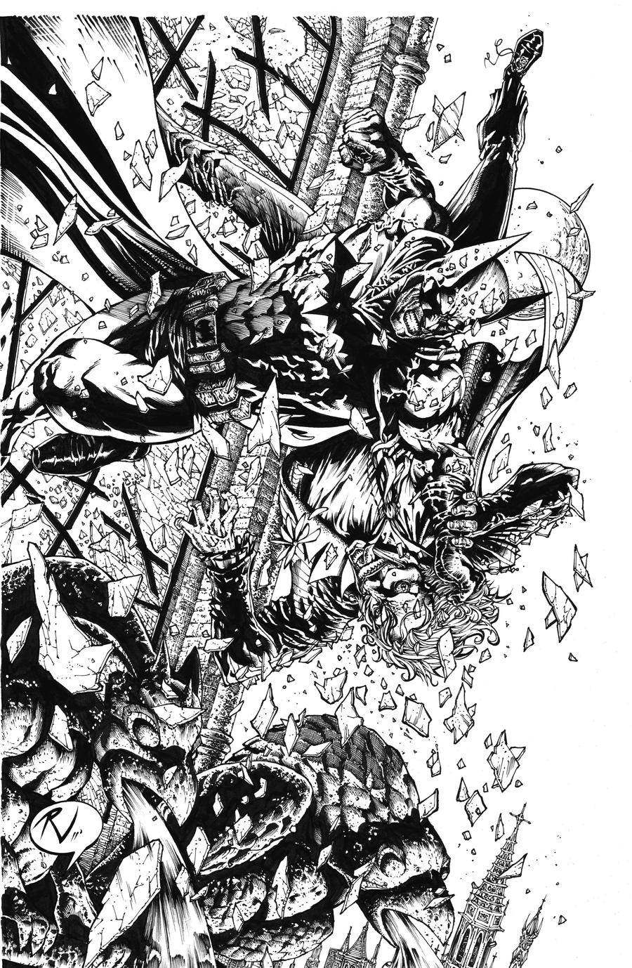 batman vs joker final inks by rudyvasquez on deviantart