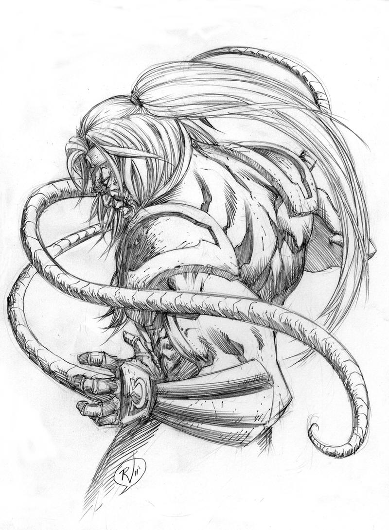 OMEGA RED Sketch by RudyVasquez