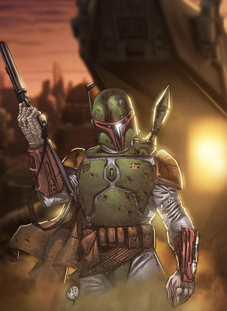 Boba Fett Colored by RudyVasquez