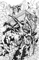 Nightwing vs Spidey Rogues INKED by RudyVasquez