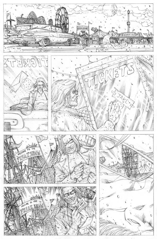 Funhouse of Horrors 4 Page 5 Pencils by RudyVasquez