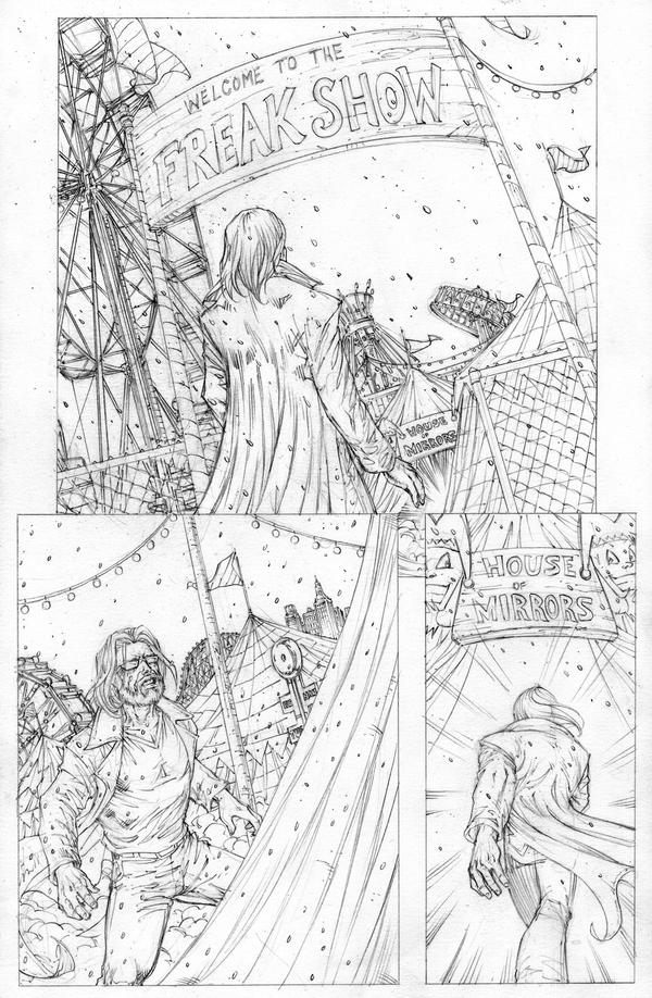 Funhouse of Horrors 4 Page 6 Pencils by RudyVasquez