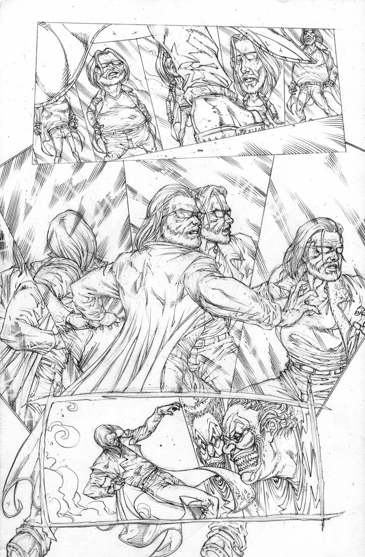 FUNHOUSE of HORRORS Page 7 Pencils by RudyVasquez