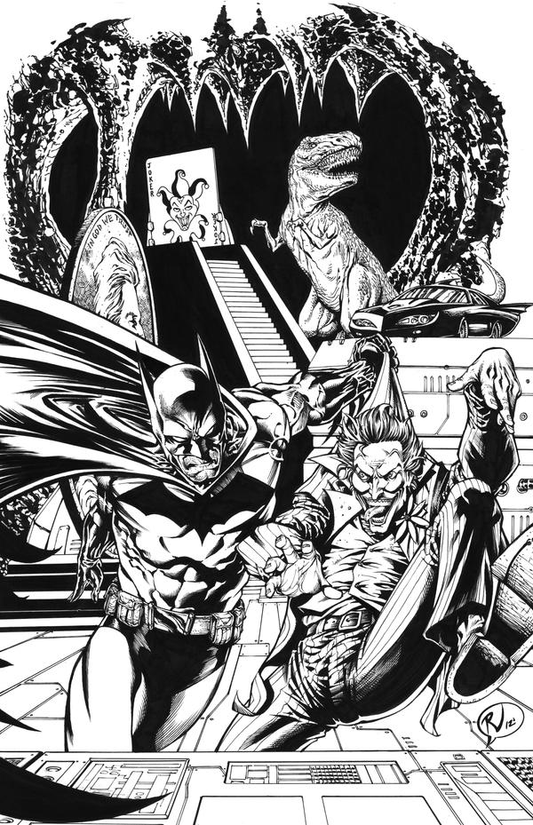 BATCAVE Commission INKS by RudyVasquez