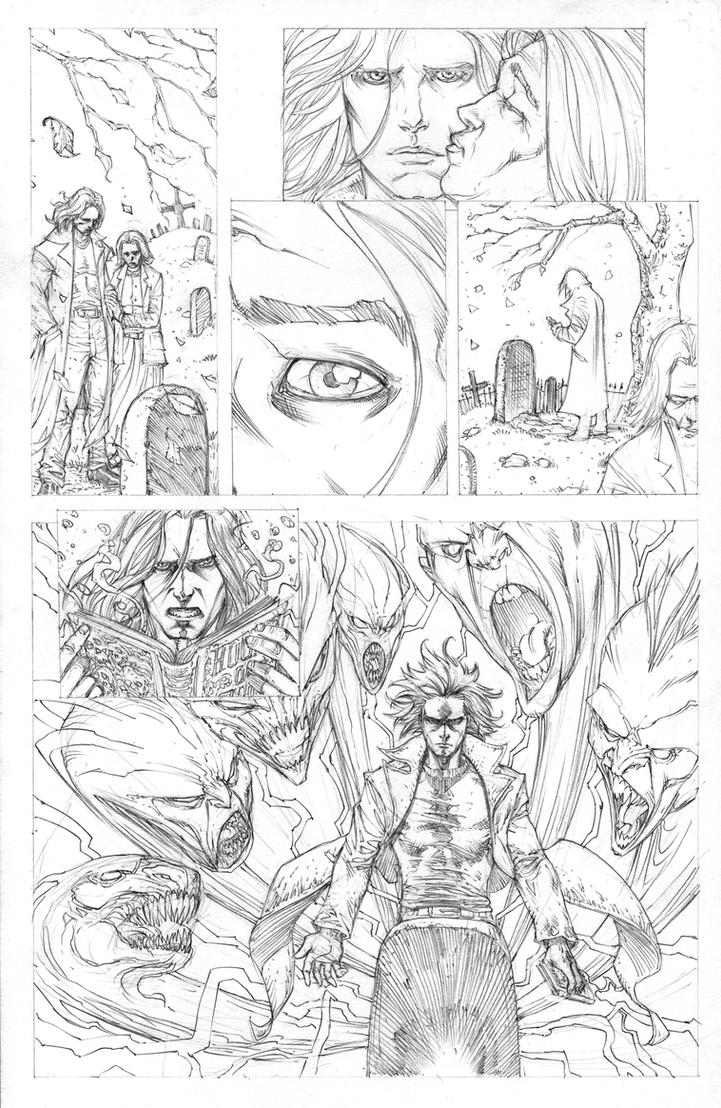 Funhouse 4 page 20 Pencils by RudyVasquez