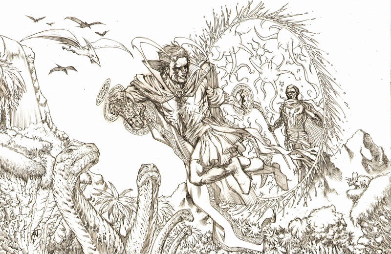Dr. Strange Pencils by RudyVasquez