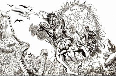 Dr. Strange in Savage Land Inks by RudyVasquez