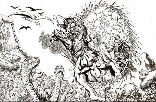 Dr. Strange in Savage Land Inks