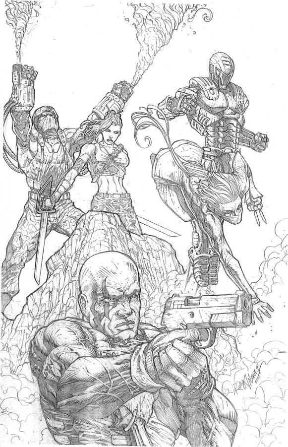 C.H.E.S.S. Cover pencils by RudyVasquez