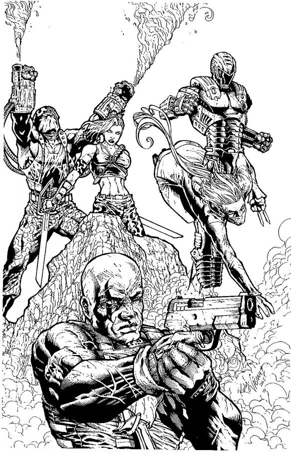 C.H.E.S.S. Cover inked by RudyVasquez