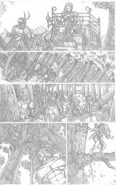 Something Evil page 5 pencils by RudyVasquez