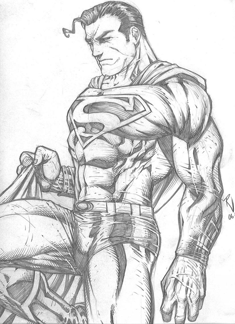 Superman Pencil Drawings Draw Superman Step by Step