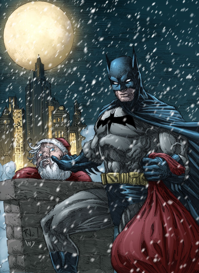 Batman Christmas.Batman X Mas Colored By Rudyvasquez On Deviantart