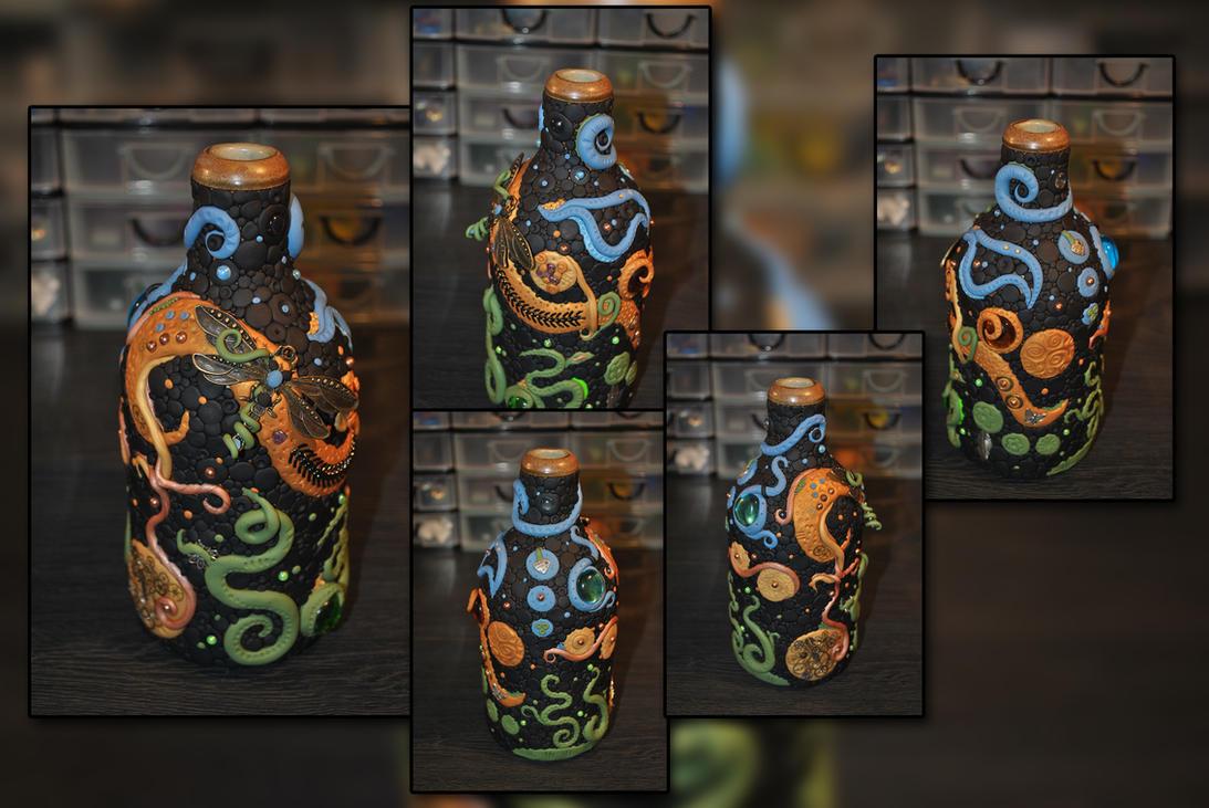 Abstract Nature : Stoneware Bottle by KirstenBerryCrafts