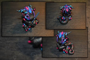 Titanium Galaxy Dragon by KirstenBerryCrafts