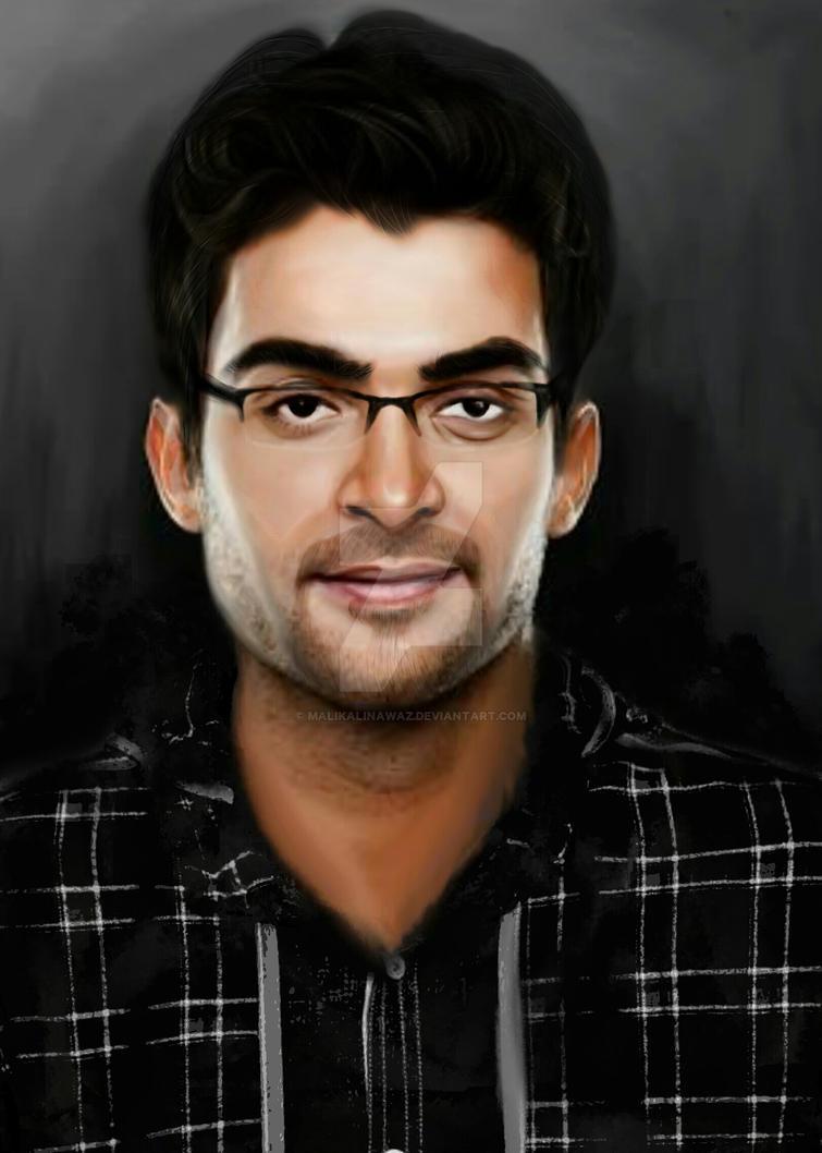 Digital Self Portrait by MalikAliNawaz