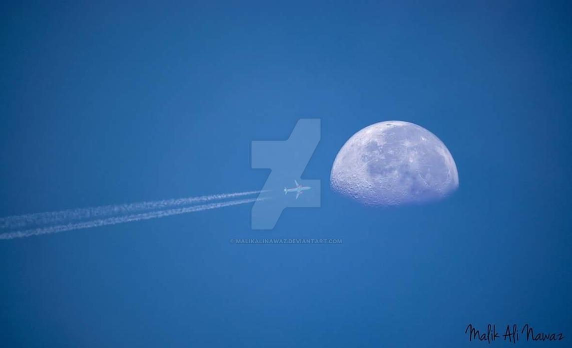 A trip to moon by MalikAliNawaz