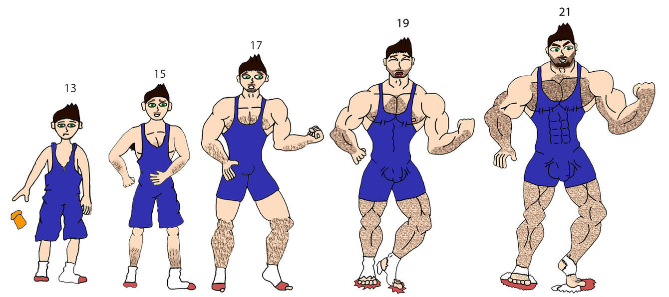 Muscle Age Progression By Musclemax123 On DeviantArt