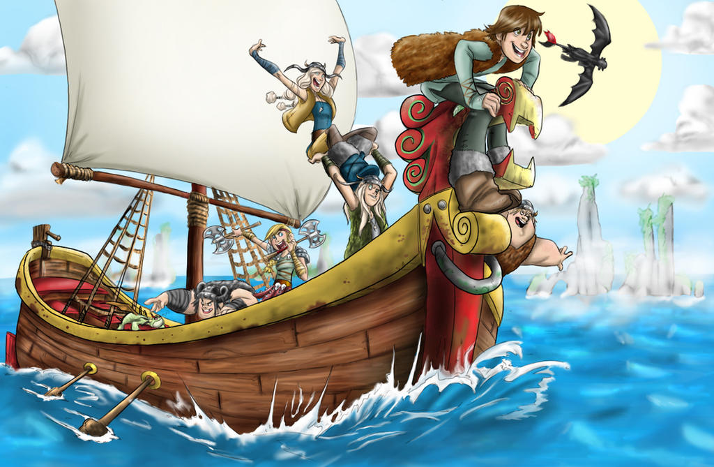 Httyd on a boat colored by dracophile on deviantart httyd on a boat colored by dracophile ccuart Images