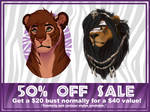 50% OFF ALL BUSTS