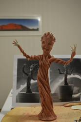 Baby Groot sculpture Finished