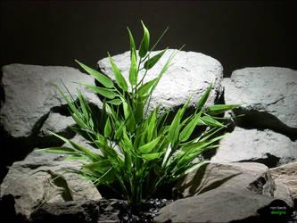 Plastic Aquarium Plants | Bamboo Bush by ronbeckdesigns