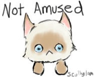 not amused. by scullylam