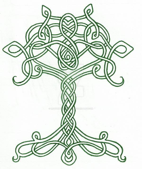 celtic tree by laughingastarael on deviantart. Black Bedroom Furniture Sets. Home Design Ideas