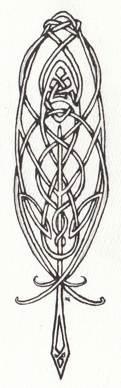 Celtic Feather by LaughingAstarael