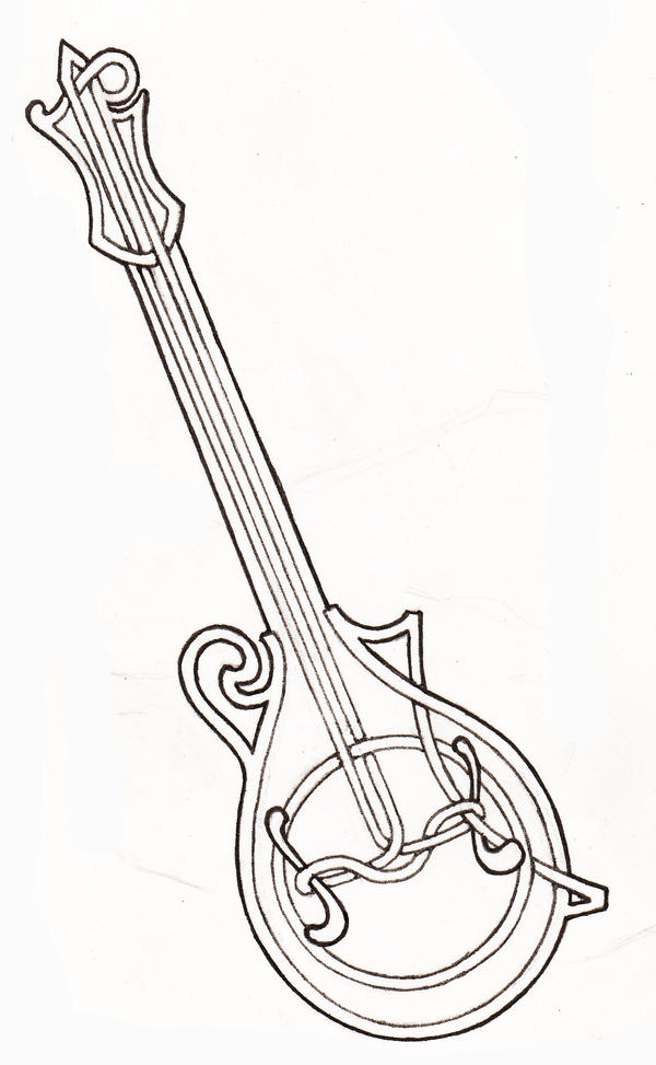 F Style Mandolin Drawing  F Style Mandolin Drawing