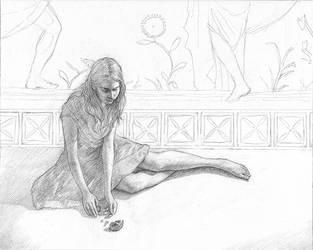 The Fall Drawing by LaughingAstarael