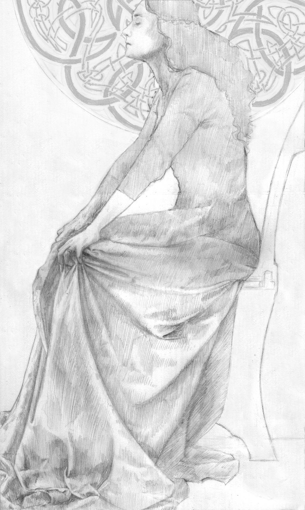 The Lady Macbeth Drawing by LaughingAstarael