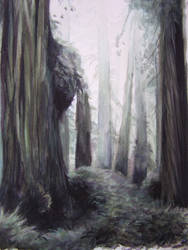 Watercolor Forest by LaughingAstarael