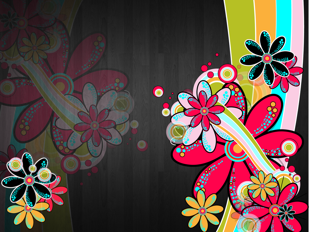 Flower Wallpaper ヴィンテージレトロ pcデスクトップ壁紙