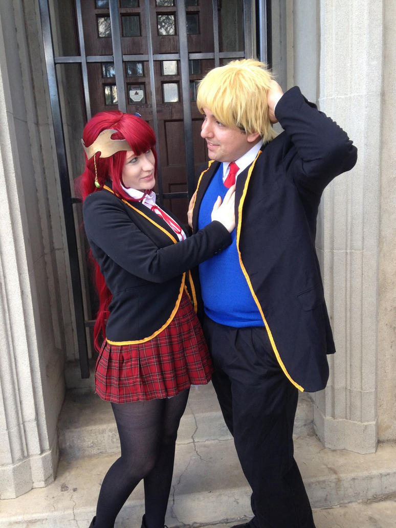 Pyrrha and Jaune by MeahowCosplay