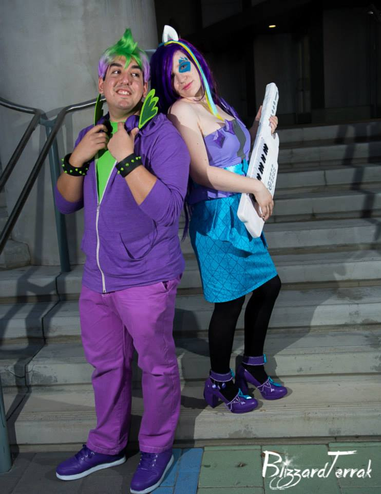 Rarity and Spike by MeahowCosplay