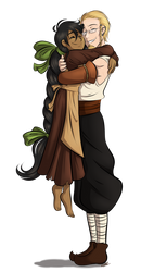 Hug! - Morrigan by Elwensa