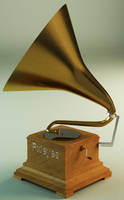 3D Gramophone by Toothpick134