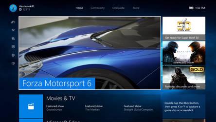 New Xbox One Windows 10 Experience Dashboard