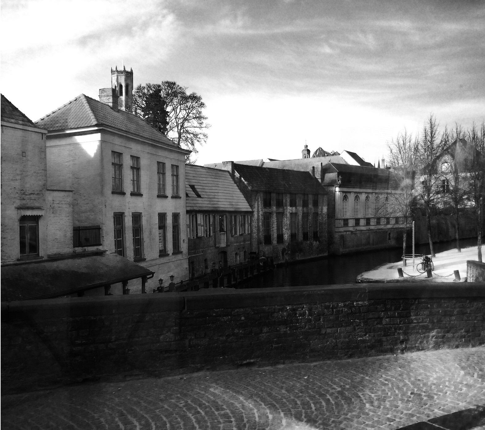 Bruges View From on the Bridge by PuzzledHeartBox
