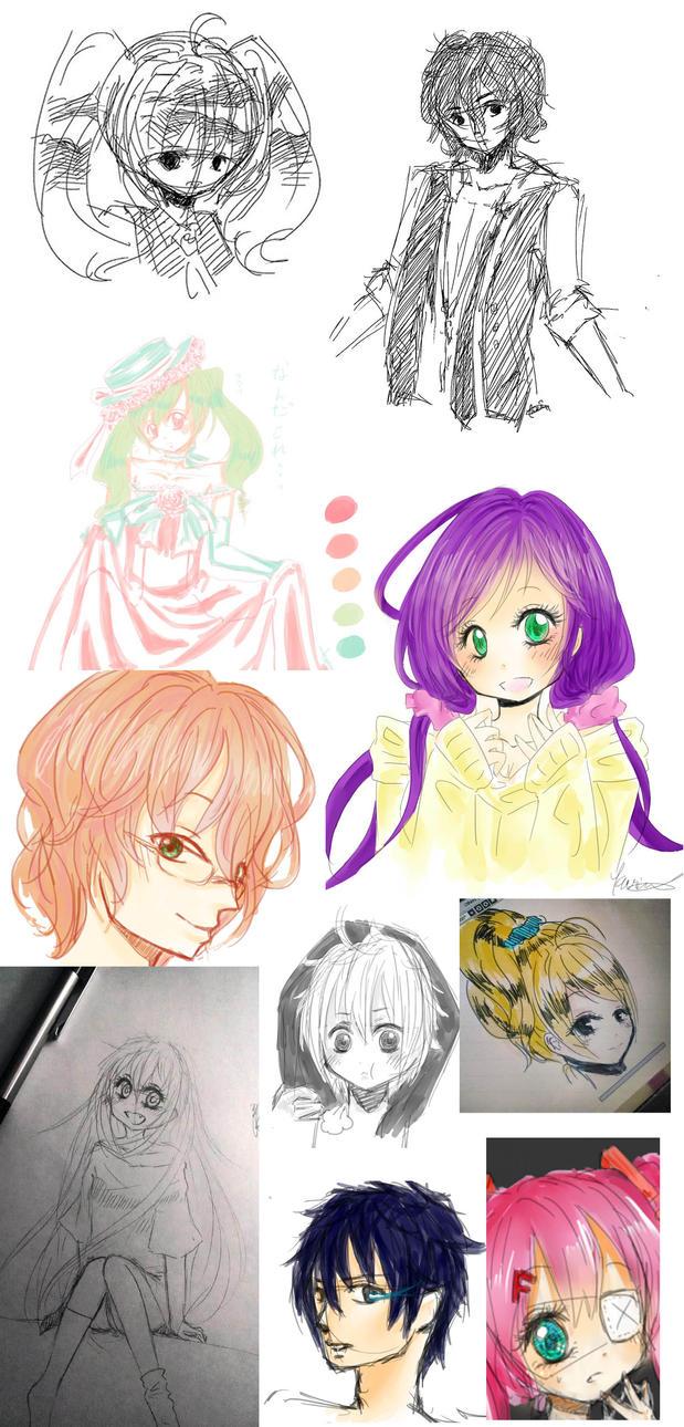 Doodle dump 2 by karin-adele
