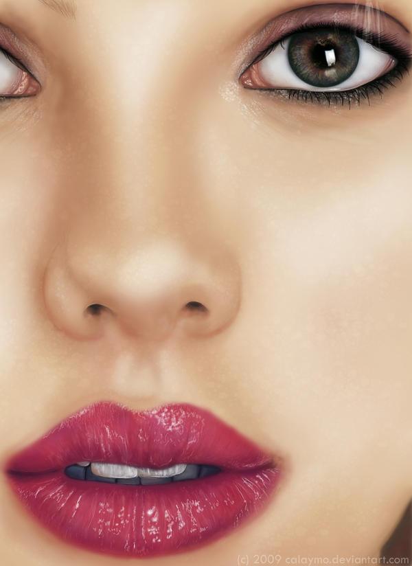 Scarlett Johansson Portrait by Calaymo