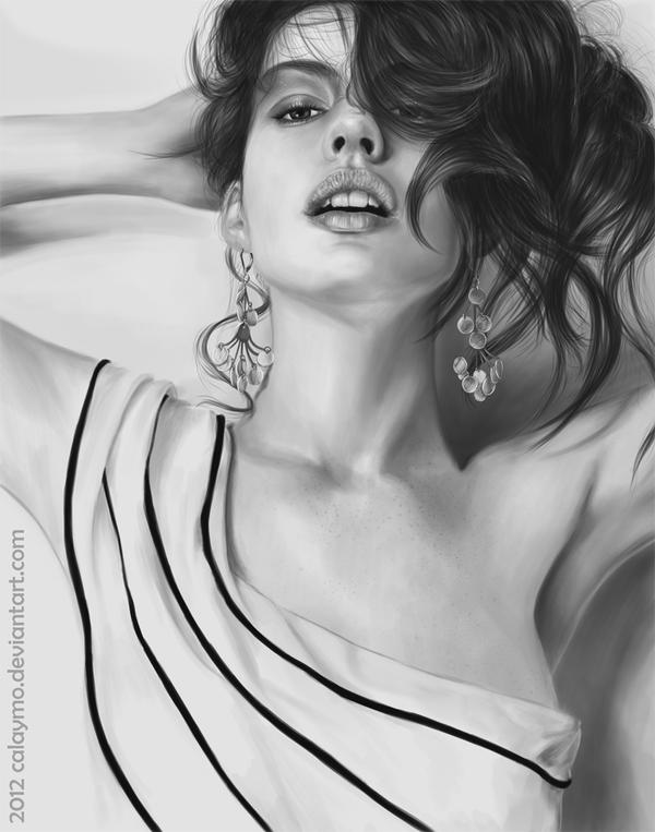 Anne Hathaway - Sexy portrait 2012 by Calaymo