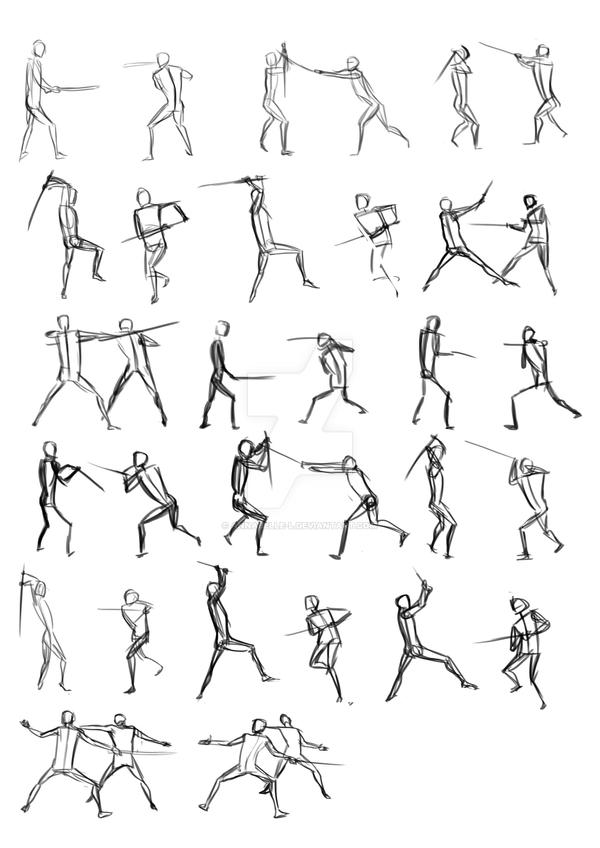 Sword Fighting Poses by annabelle-l on DeviantArt